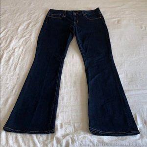 LONG Gap 1969 Ultra Dark Curvy Bootcut Jeans 29L